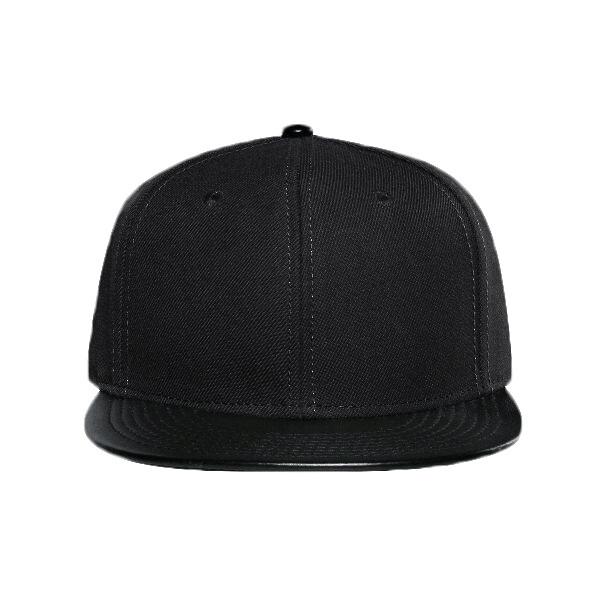 6cbd63c6c4e OTTO Cap OTTO Wool Blend Twill w  Faux Leather Round Flat Visor