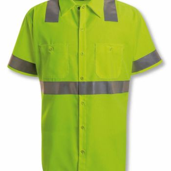 High Visibility Safety Short Sleeve Work Shirt Thumbnail