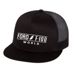 F100 World Canvas Flat Bill Trucker Cap Thumbnail